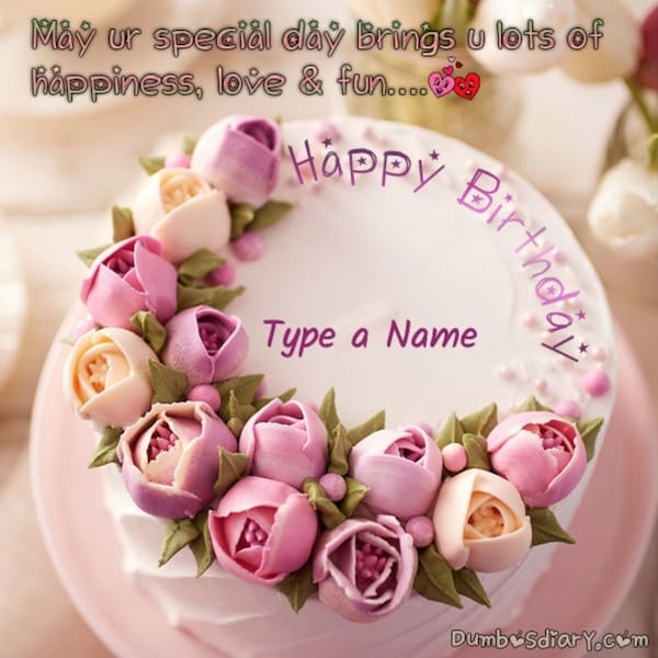 Pink Tulip Birthday Cake