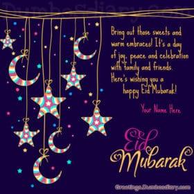 Eid moon stars cover