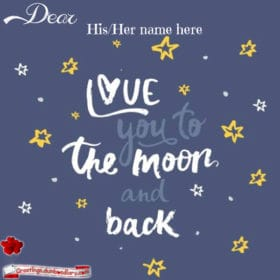 Love to the moon and back