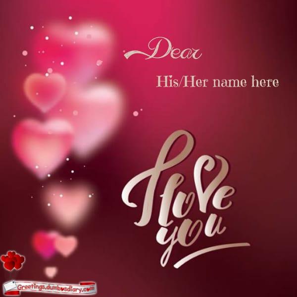 Blurred Hearts Love Card