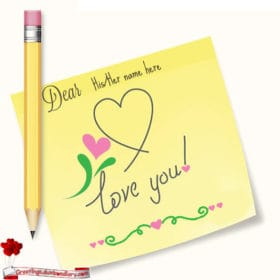 Pencil And Paper Love Card