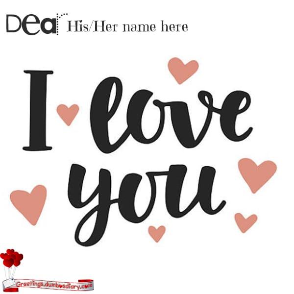 I Love You Too Card