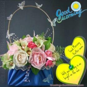 Morning Flower and heart bucket