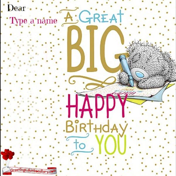 A great big birthday card