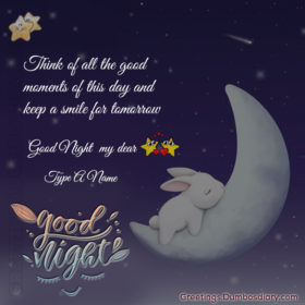 Sleeping good night bunny cover