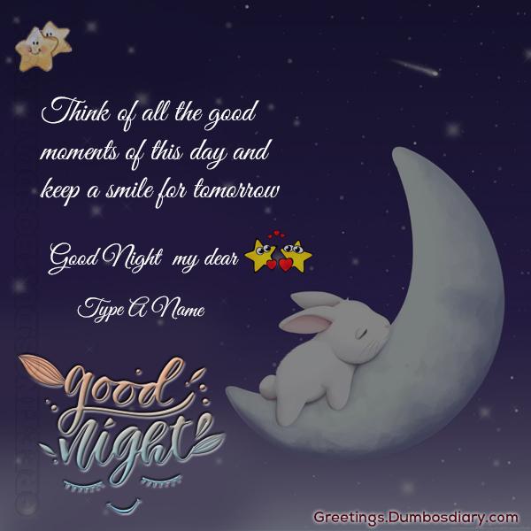 Sleeping good night bunny cover