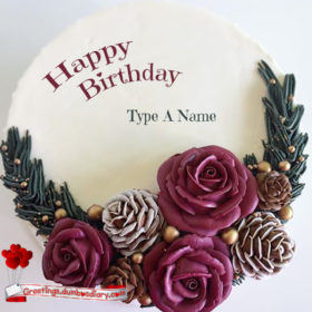 Beautiful roses creamy cake cover