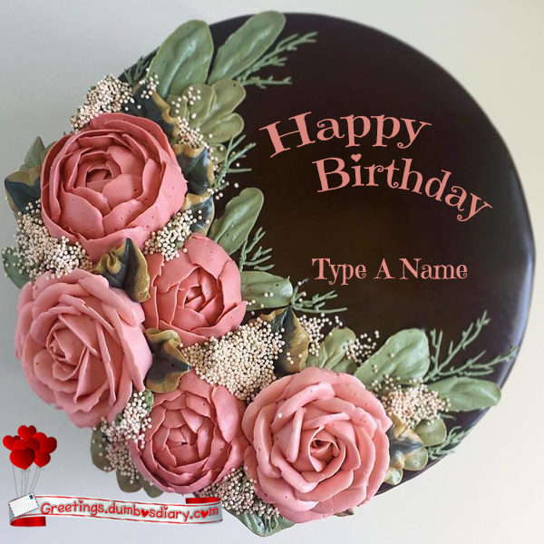Chocolate creamy flowers cake cover